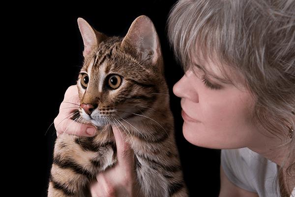 Арина и котенок